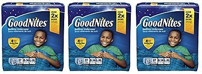 GoodNites Bedtime Bedwetting Underwear for Boys (Pack of 3)