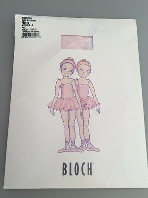 Bloch Endura Footed Tights Girls Size Medium 6/8 Pink NEW Style T0921G