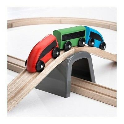 Ikea Lillabo 20 piece wooden train set