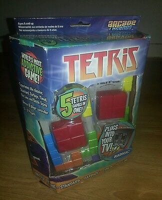 Brand new in box Retro plug in TV Radica 5 in 1 Tetris game