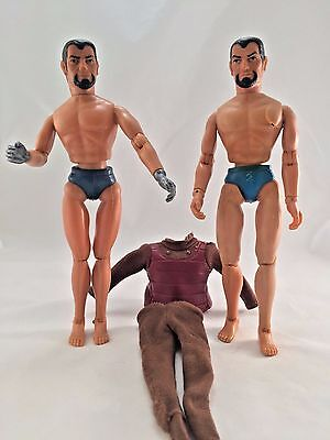 """TWO Vintage 1974 MEGO Star Trek KLINGON 8"""" Poseable Action Figure with 1 outfit"""