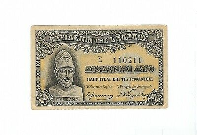 Greece -  2 Drachmas  1917
