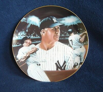 """Mickey Mantle Sports Impressions Plate """"Mickey At Night"""" Collectors Edition"""