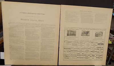 Illinois Whiteside County Map Patron's Reference Directory  1912  Z6#93