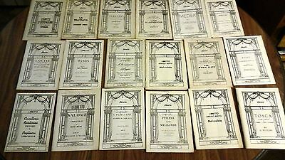 Huge lot of 56 Vintage Obera Libretto.  Soft cover, good condition