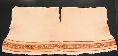Pre-colombian- Peruvian/Chancay Tunic With Embroidered Border