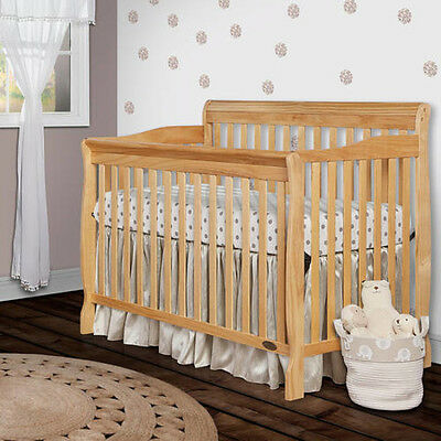 5 in 1 Convertible Crib Baby Toddler Daybed Full Size Bed NEW Natural Wood Color
