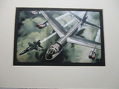 Boeing B 52 also X 15 Revell Model Airplane Box Top Art Color  artist G2