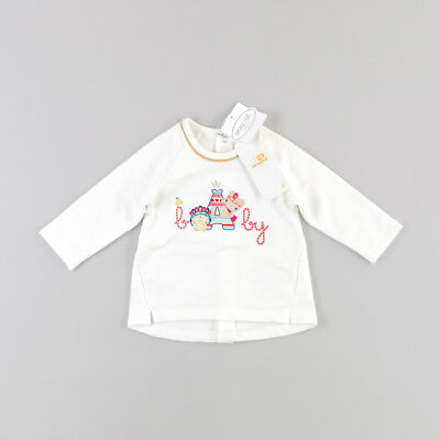 Sudadera animalitos bordados  de color Blanco de marca Mayoral 3 Meses