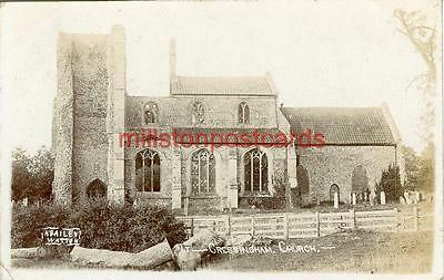 Real Photographic Postcard Of Cressingham Church, (Near Swaffham), Norfolk