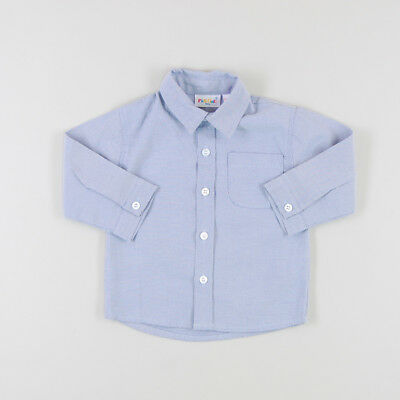 Camisa con un bolsillo tipo Oxford ml de color Azul de marca Pick Ouic 12 Meses