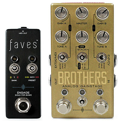 Chase Bliss Audio Brothers Overdrive Pedal & Faves MIDI Controller