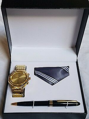 Men's Watch, Pen and Tie Gift Set Father's Day Gift