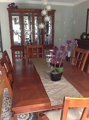 dining room set: table, 6 chairs, and china/display cabinet