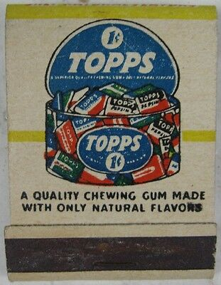 Vintage 1940's Full Matchbook 1 Cent Topps Chewing Gum