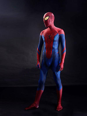 Kids/Adult Marvel The Amazing Spiderman Spandex Zentai Suit Cosplay Costume