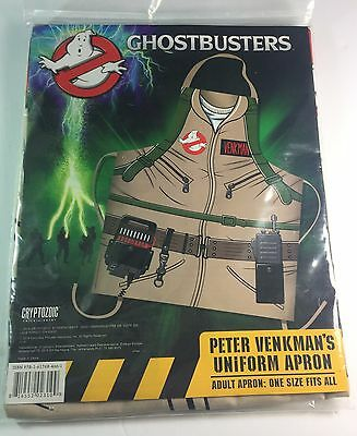 GhostBusters Peter Venkman's Uniform Apron Adult One Size Barbecue BBQ