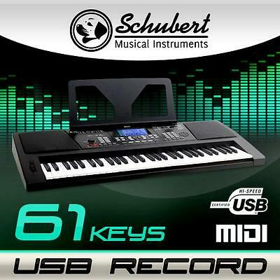 (B-Ware) 61 Tasten Beginner Home Keyboard E-Piano Klavier Lcd Display Usb Midi