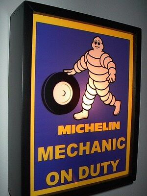***Michelin Man Tires Gas Service Station Mechanic Garage Man Cave Lighted Sign
