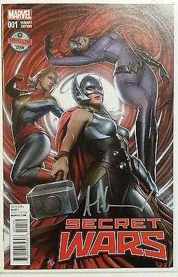 Secret Wars 1 Rare Signed By Adi Granov! Traveling Man Variant Thor Ms Marvel Nm