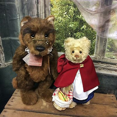 Charlie Bears Red Riding Hood And Wolf Fairytale Set L/e 200 Retired Last One!