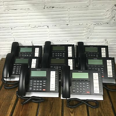Lot (8) Pre owned -Toshiba Digital Business Phone, Model DP5022-SDM - 10 Lines