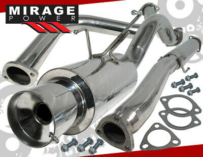 "Fit 92-95 Honda Civic 2.5-3/"" Catback Exhaust System 4/"" Muffler Hatchback Only"