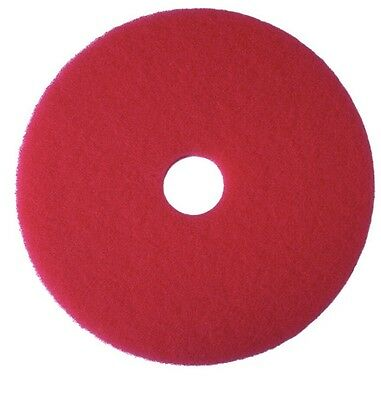 "GLIT/MICROTRON 11"" Red Buffing Floor Maintenance PAD CASE OF 5"