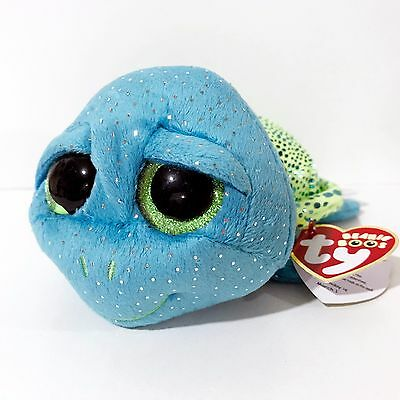 "Ty Beanie Boos - 6"" CARA the Sea Turtle - 2017 Sea World Exclusive - MWMT"