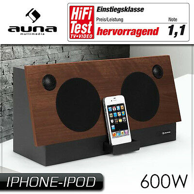 (B-Ware) Iphone Ipod 2.2 Sound System Docking Station Stereo Design Musik