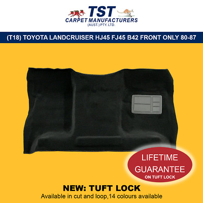 T18 MOULDED CAR CARPETS TOYOTA LANDCRUISER HJ45 FJ45 B42 FRONT ONLY 80-87