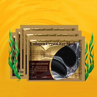 5 pairs Crystal Black Collagen Aging Under Eye Patches Mask Bags Wrinkles NEW