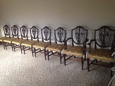 1850's 8 Gorgeous Hepplewhite Chairs ~Rare Find!  Original, not Reproductions