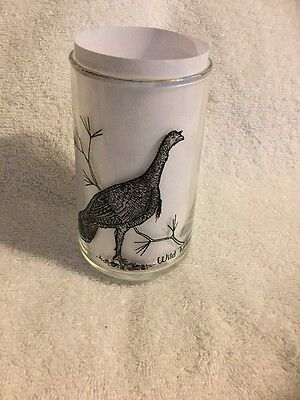 Vintage Wild Turkey Drinking Glass Game Bird