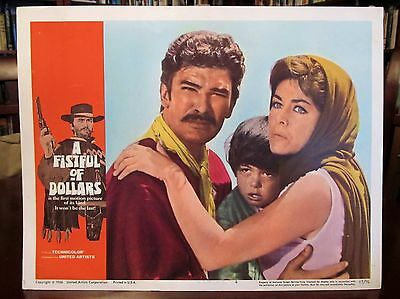 EASTWOOD Lobby Card A FISTFUL OF DOLLARS (1967, first US release) Marianne Koch,