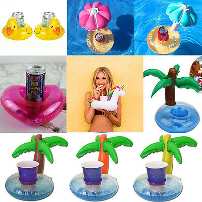Swimming Drink Holder Can Cup Holder Inflatable Floating Pool Bath Beach Summer
