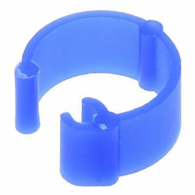 B3 100Pcs Mixed Color Pigeon Leg plastic Foot Rings Band Inner Diameter 8mm High