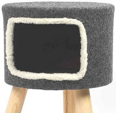 Purrshire Felt Cat Stool House 53cm Height Animal Housing Furniture Accessory