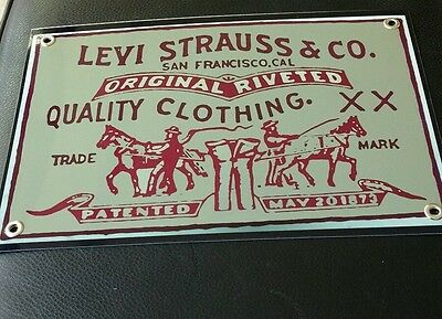 Levi Strauss blue jeans advertising sign
