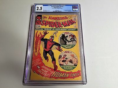 The Amazing Spider-Man 8 CGC Graded 2.5 Cream To Off White Centerfold Trimmed