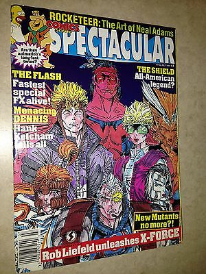 Comics Scene magazine spectacular 4 with posters Rob Liefeld New Mutants X-Force