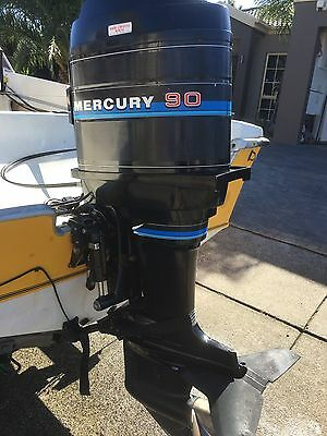 90 HP Mercury Outboard Motor Excellent Condition (Will Freight Australia Wide.)