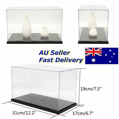 31cm Protection Display Case Acrylic Plastic Box Dustproof Self-Assembly Perspex