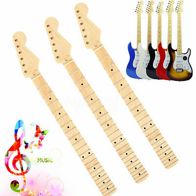 22 Fret Maple Guitar Neck Replacement Fingerboard Dot For ST Electric Guitar
