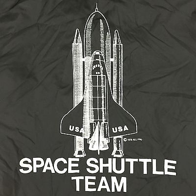 Space Shuttle Team 1978 Usa Pla-Jak Vintage Windbreaker Snap Nasa Jacket Size L