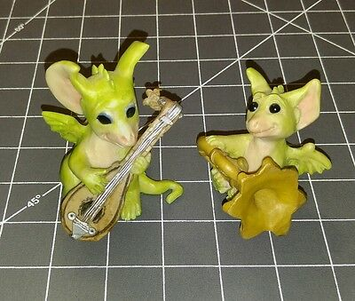 LOT OF 2 Whimsical World Of Pocket Dragons minstrel practice perfect Musgrave
