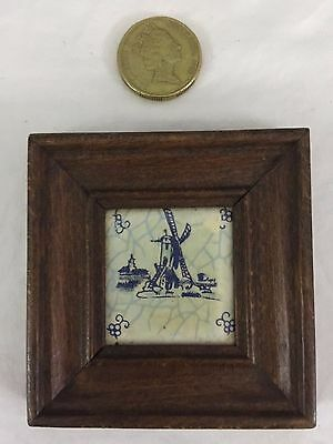 Antique Hand Painted Japanese Framed Tile