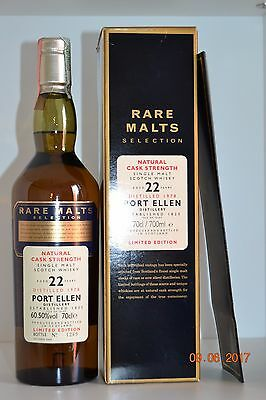 Single Islay Malt Scotch Whisky PORT ELLEN 22 years old 1978 70cl  with box
