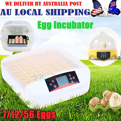 Farm Digital Automatic Chicken Egg Incubators Poultry Fully Harcher 7/12/56 -Gh