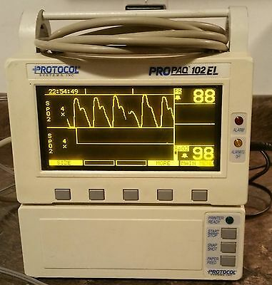 Propaq Encore Multiparameter Patient Monitor With Printer And Power Supply
